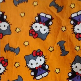 Day 21: Craziest fabric. I love Hello Kitty and I love Halloween. What could be crazier? :) #bpsewvember
